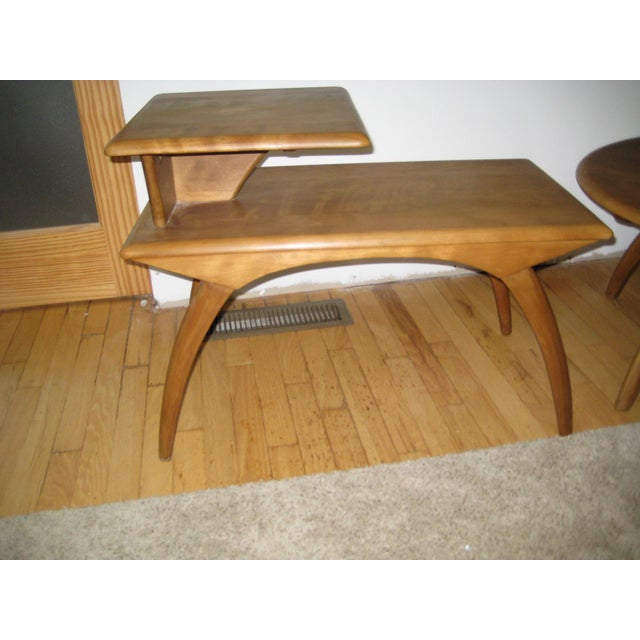 Mid-Century Modern Heywood Wakefield Mid-Century Coffee Table & End Tables - Set of 3 For Sale - Image 3 of 8