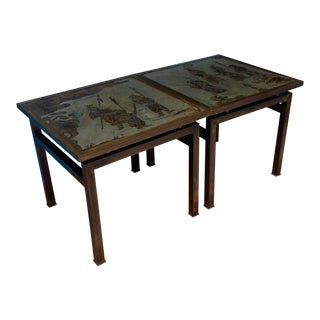 Pair of Laverne Side Tables For Sale
