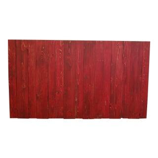 Red Weathered Look Queen Headboard Hanger Style