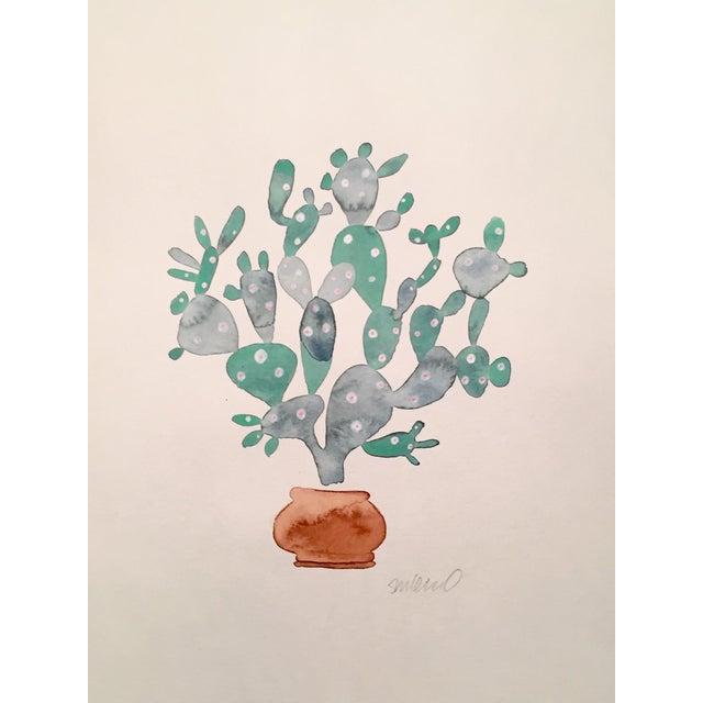 Sage Cactus Watercolor - Image 1 of 2
