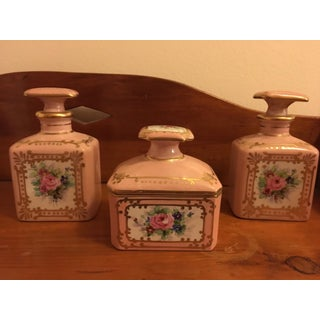 Limoges Hand Painted Porcelain Vanity Set Preview