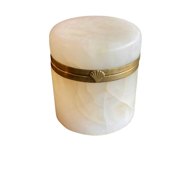 Mid 20th Century Vintage Mid Century Italian Marble Jar For Sale - Image 5 of 7