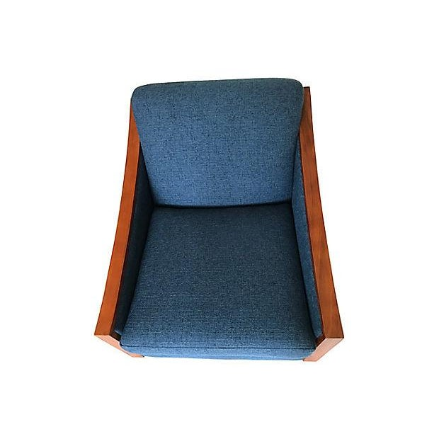Blue Mid-Century Lounge Chair - Image 5 of 8