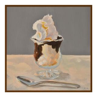 """Hot Fudge Sundae"" by Anne Carrozza Remick, 38"" X 38"""