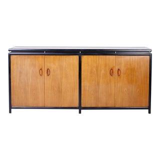 Midcentury Baker Four Door Cabinet or Credenza For Sale