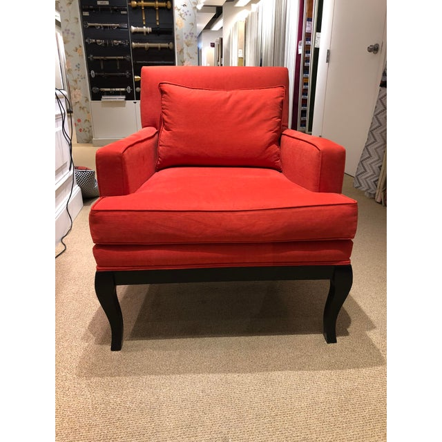 Traditional Alaska Aragosta Red Upholstered Arm Chair For Sale In Chicago - Image 6 of 7