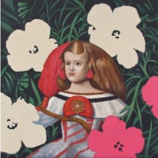 "Acrylic Paint on Canvas, The Little Princess - 24x24"" For Sale"