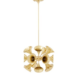 Miles Davis Gold Chandelier For Sale