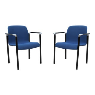 Mid-Century Modern Herman Miller Guest or Dining Arm Chairs Model El101 - a Pair For Sale