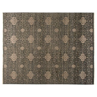 Stark Studio Rugs Traditional New Oriental 80% Wool/20% Cotton Rug - 9′ × 11′11″ For Sale
