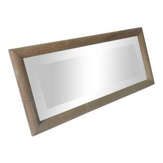 Beveled Glass Framed Mirror For Sale