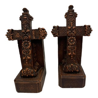 Mid 20th Century Cross Bookends - a Pair For Sale