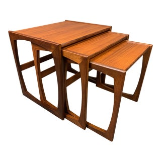 "Vintage Mid Century Modern Teak ""Quadrille"" Nesting Tables by G Plan - Set of 3 For Sale"
