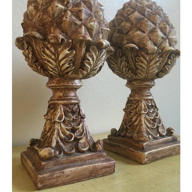 Tall Victorian Artichoke Finials - a Pair - Image 4 of 5