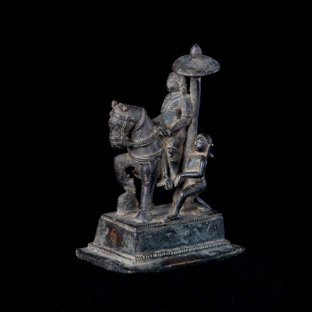 Mid 18th Century Bronze Equestrian Sculpture For Sale - Image 5 of 5