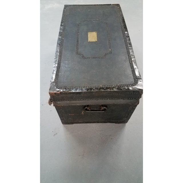 19th Century Nautical Royal Navy Officer's Campaign Chest For Sale - Image 10 of 13
