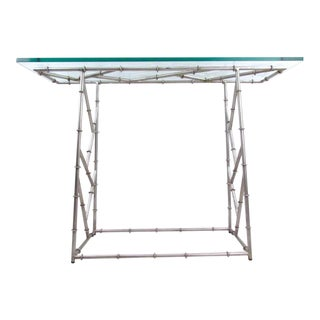 Decorator Style Console Table For Sale