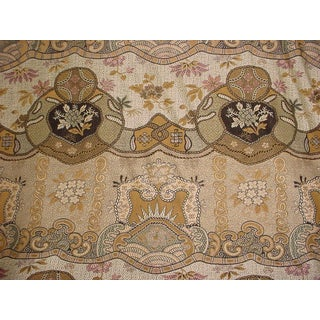 Clarence House 1510405 Dragon Empress Celedon Brocade Upholstery Fabric- 13 1/8 Yards For Sale