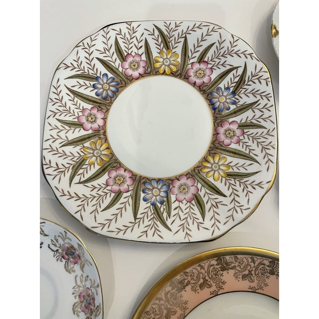 Ceramic Vintage Pink and Gold Mixed Decorative Plates- a Set 12 For Sale - Image 7 of 13