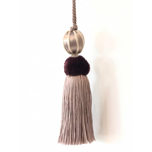 Merrivale Wisteria Beaded Key Tassel - H 4.5 Inches For Sale In Charlotte - Image 6 of 8