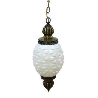 20th Century Traditional Brass Pendant Lamp For Sale