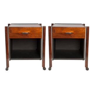 Jorge Zalszupin for L'Atelier Side Tables in Jacarand - a Pair For Sale