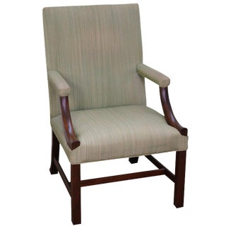 Kittinger Colonial Williamsburg Chippendale Library Chair For Sale