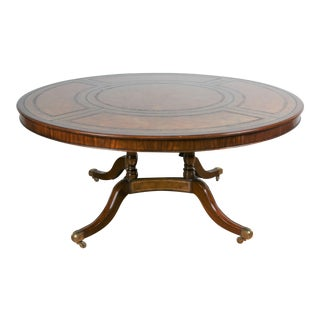 Large Maitland Smith Round Dining Table For Sale