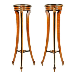 Pair of English Sandwood Stands For Sale
