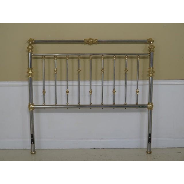 Charles P Rogers Queen Size Brass Steel Bed Headboard Chairish
