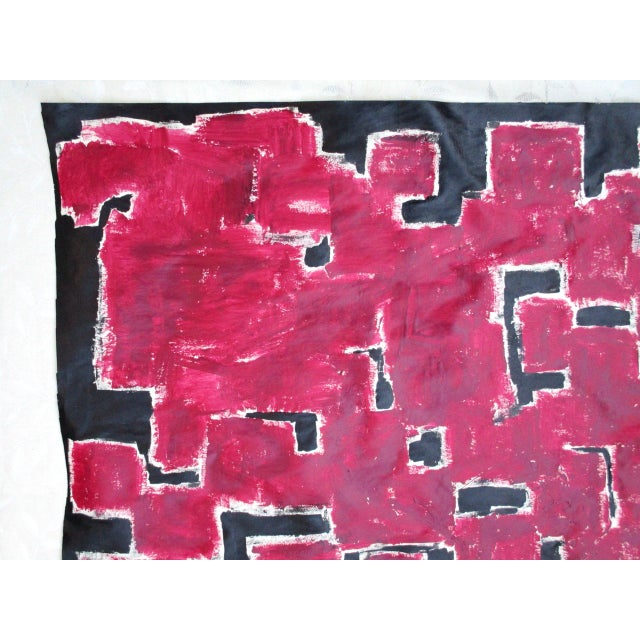 Alaina Bold Abstract Red Black Painting - Image 10 of 11