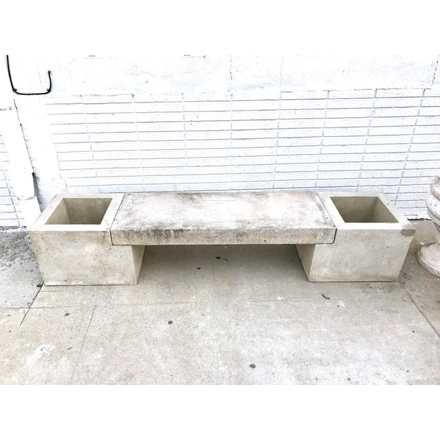 Concrete Mid Century Modern Concrete Planter Bench For Sale - Image 7 of 7