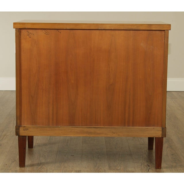 Baker Furniture Company Baker French Empire Style Vintage Walnut Commode Chest of Drawers For Sale - Image 4 of 13