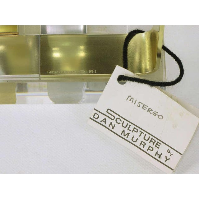 Dan Murphy (American 20th C) Gold & Clear Anodized Aluminum Sculpture For Sale - Image 10 of 10