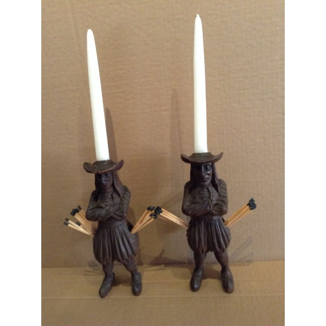 Brown Antique J. Martin Rennes Candle and Matchstick Holders - A Pair For Sale - Image 8 of 10