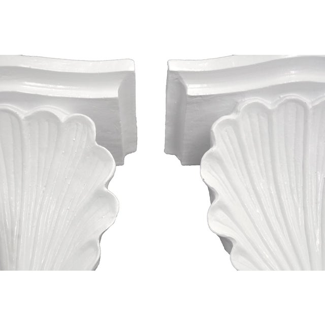 Shell Wall Shelves - a Pair - Image 4 of 5