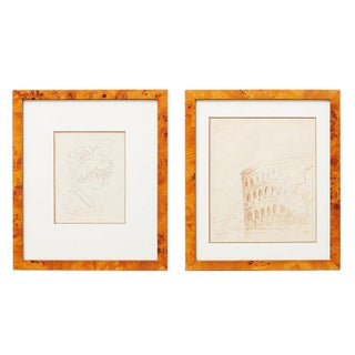 Pair of Ralph DuCasse Greco Roman Drawings For Sale