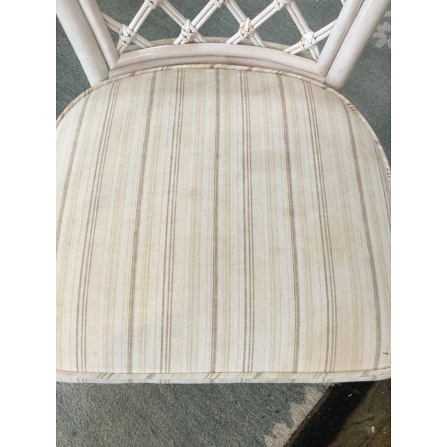 Vintage Bamboo Round Dining Table and Four Chairs For Sale - Image 9 of 11