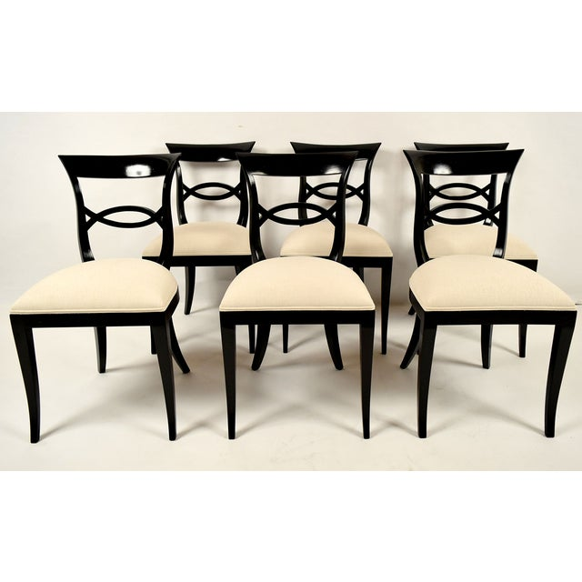 Regency-Style Dining Chairs - Set of 6 - Image 2 of 9