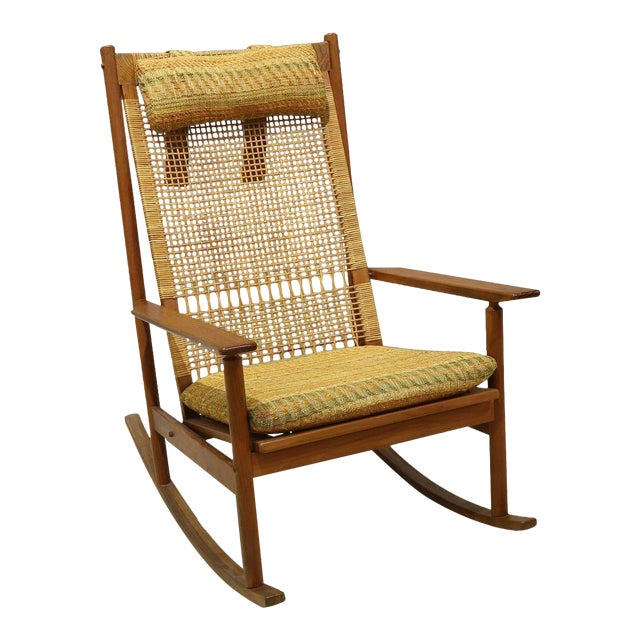 Mid-Century Modern Hans Olsen for Dux Rocking Chair For Sale