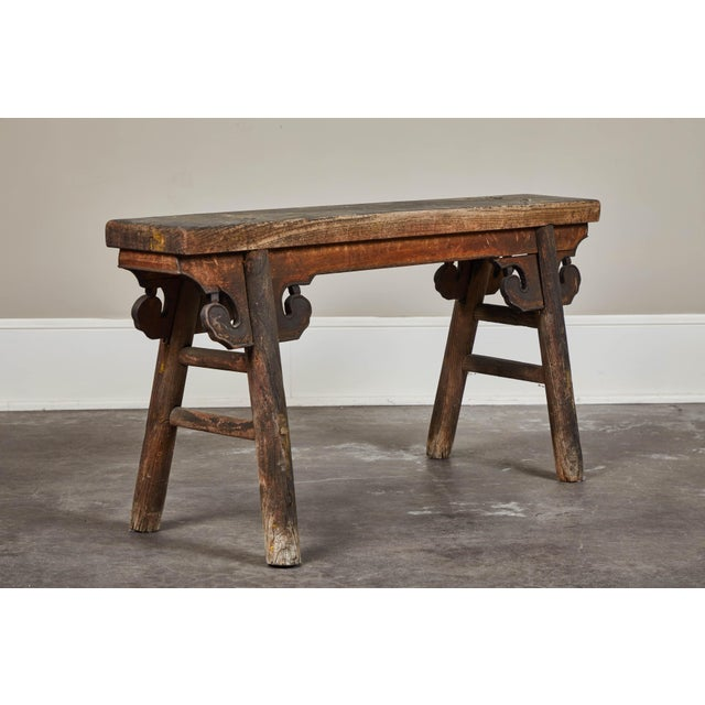 20th Century Chinese Wooden Bench For Sale - Image 4 of 8