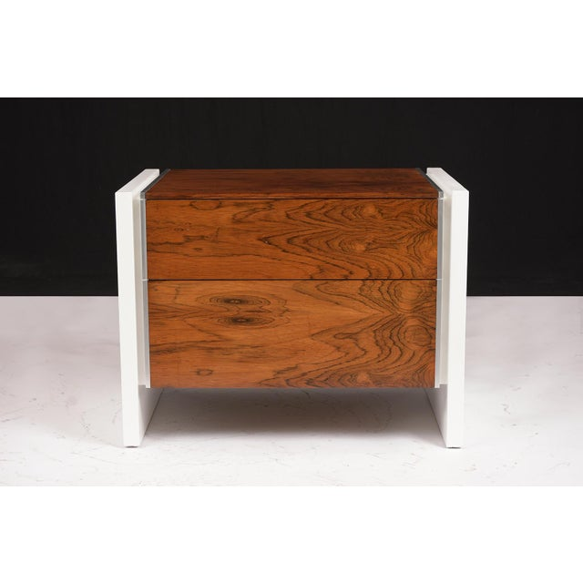 1960s Pair of White Lacquered Glenn California Nightstands For Sale - Image 5 of 11