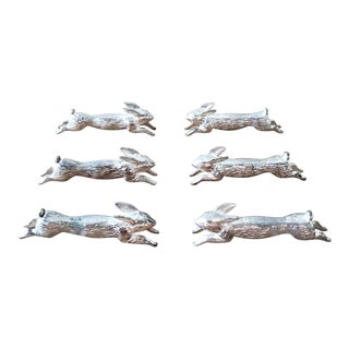 Running Hare Knife Rests, 6 Piece For Sale