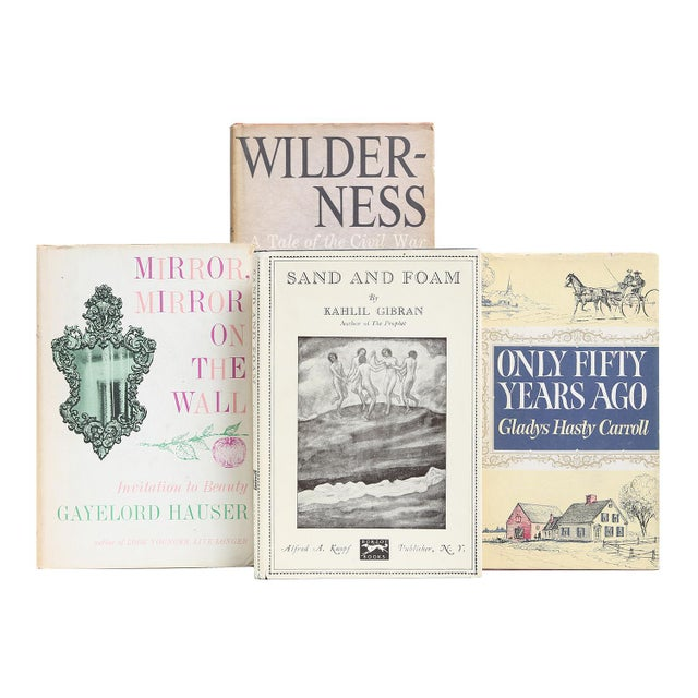 Midcentury Muted Dustjacket Mix, S/20. Twenty midcentury-era books in muted shades of cream and tan, each housed in...