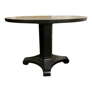 "42"" Black Round Dining or Center Table For Sale"