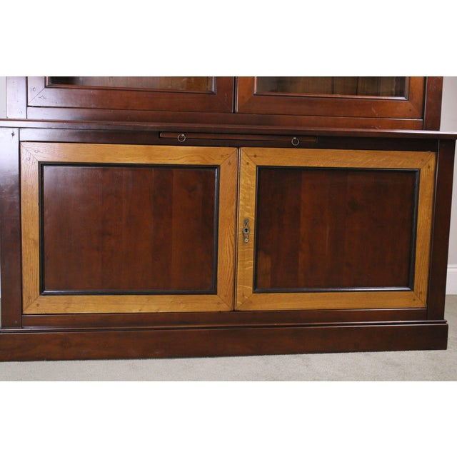 Grange French Cherry Louis Philippe Style Bookcase Cabinet For Sale - Image 11 of 13