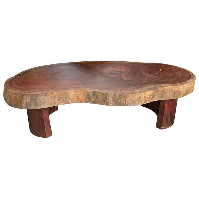 Brown Live Edge Cocktail Table, Belgium 1960's For Sale - Image 8 of 8