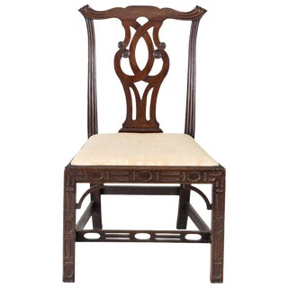 Georgian Chinese Chippendale Side Chair, circa 1760 For Sale