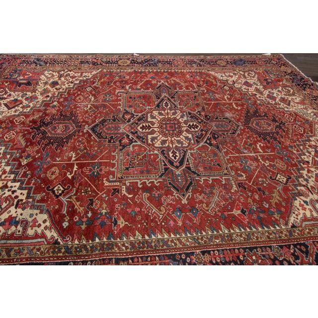 "Apadana - Vintage Persian Rug, 9'3"" x 12'7"" For Sale - Image 4 of 7"