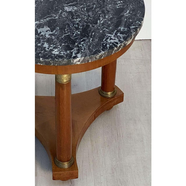 19th Century French Marble-Top Table or Guéridon in the Empire Style For Sale - Image 5 of 13